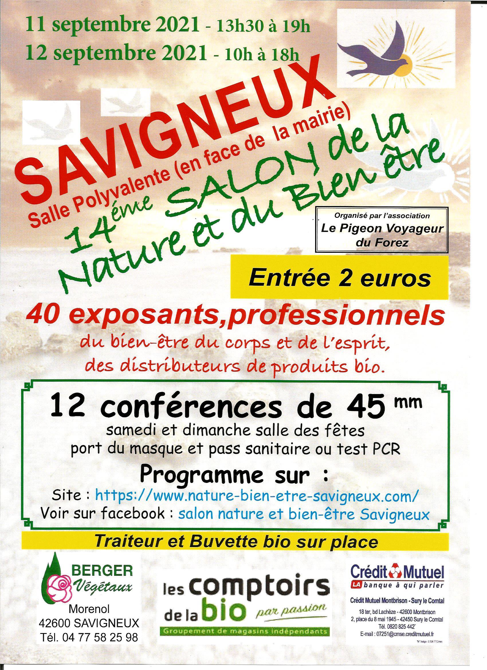 Salon Bien-être Savigneux 11-12/09/2021
